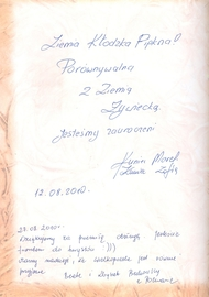Galeria O nas - Z księgi pamiątkowej