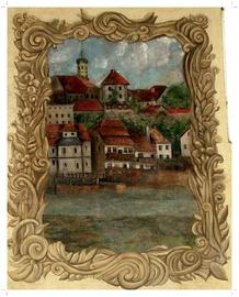 Malowidło ścienne z XIX w., Ratusz, Plac Wolności