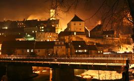 Panorama Bystrzycy Kłodzkiej, widok od ul. Kolejowej