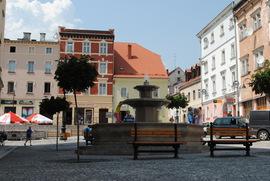 Fontanna przed Ratuszem. Plac Wolności